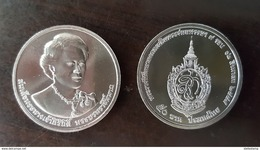 Thailand Coin 50 Baht 2016 7th Cycle 84 Years Birthday Queen Sirikit - Thailand