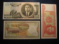 Lot Of 3 Banknotes Unused UNC Banknote Billet Billete - Billets