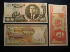 Lot Of 3 Banknotes Unused UNC Banknote Billet Billete - Banknotes