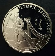 """MONGOLIA 500 TUGRIK 2006 SILVER PROOF """"OLYMPIC WINTER GAMES"""" Free Shipping Via Registered Air Mail - Mongolie"""