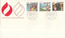 Canada - FDC 18 Juli 1976 - XXIe Olympiade. Montreal 1976 - M 630-632 - Estate 1976: Montreal