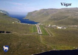 1 AK Färöer Faroe * Vágar Die Drittgrößte Insel Der Färöer Und Der Internationale (und Einzige) Flughafen Der Färöer - Faroe Islands