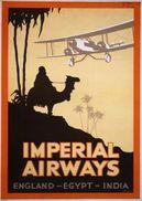 Aviation Imperial Airways England-Egypt-India 1920s - Postcard Reproduction - Publicité