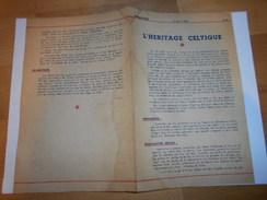 Document Vichy / Petain /equipes Nationales L Heritage Celtique / Defense Passive - 1939-45