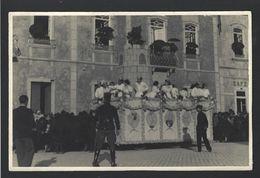 Cortejo CARNAVAL ? ESTUDANTES ? Carro Alegorico / GNR. 17.5cm X 11.5cm.  Old Real Photo PORTUGAL - Porto
