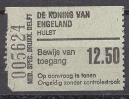 """Nederland - Toegangskaartje Bioscoop """"De Koning Van Engeland"""" - Hulst - Toegangskaarten"""