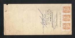 Korea Revenue Stamps On Used Bill Of Exchange Paper 1977 - Korea (...-1945)
