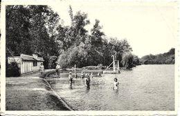 Chaumont-Gistoux (1325) : Ronvau-Plage. Belle Animation (baigneurs, Cabines, Plongeoir). CPSM. - Chaumont-Gistoux