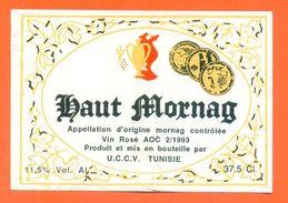 étiquette Vin Rosé De Tunisie Haut Mornag UCCV à Tunisie - 11°5 - 37,5 Cl - Rouges