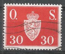 Norway 1951. Scott #O61 (U) Norway Coat Of Arms - Service