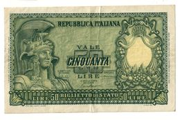 Italy 50 Lire 1951 - [ 2] 1946-… : Républic