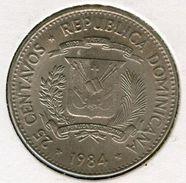 République Dominicaine Dominican Republic 25 Centavos 1984 Droits De L'Homme KM 61.1 - Dominicana