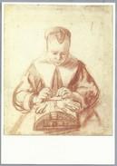 NL.- ROTTERDAM. Nicolaes Maes. Een Kantwerkster, Woman Making Lace, Coll. Museum Boymans Van Beuningen. KANTKLOS - Ambachten