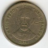 République Dominicaine Dominican Republic 1/2 Peso 1976 100 Ans De La Mort De Duarte KM 44 - Dominicana