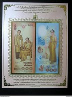 Thailand Banknote Album Sheet 100 Baht 2004 72nd 6th Birthday Queen Sirikit 2 Pcs _2 - Thailand