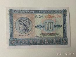 10 Drakme 1940 - Grecia