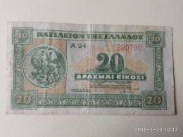 20 Drakme 1940 - Grecia