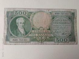 500 Drakme 1945 - Grecia