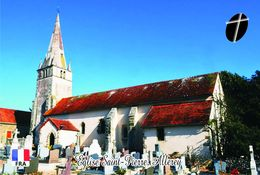 Carte Postale, Eglises, Churches Of France (Côte-d'Or), Allerey, Église Saint-Pierre - Eglises Et Cathédrales