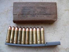 Chargeur USm1 Neutralisé Et Chargette Avec 10 Cartouches Ww2 Neutralisées - Armes Neutralisées
