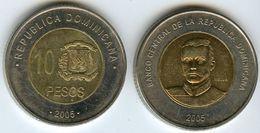 République Dominicaine Dominican Republic 10 Pesos 2005 KM 106 - Dominicaine