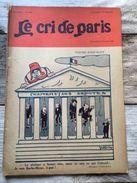 Le Cri De Paris Fevrier 1926 Madame Barbe Bleue Chambre Des Deputes Offenbach - Boeken, Tijdschriften, Stripverhalen