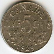Canada 5 Cents 1929 KM 29 - Canada