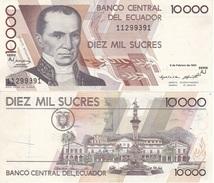 Ecuador - 10000 Sucres 1995 XF Lemberg-Zp - Ecuador