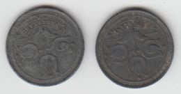 Pays-Bas (occupation Allemande) - 1942 - 10 Cents - Lot De 2 - [ 3] 1815-… : Kingdom Of The Netherlands