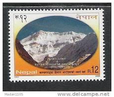 NEPAL 2005  Golden Jubilee 1st Ascent On Mount Kanchenjunga, Mountain, Yvert 777, 1 Value Complete, MNH(**), - Nepal