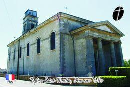 Carte Postale, Eglises, Churches Of France (Côte-d'Or), Arc-sur-Tille, Église Saint-Martin - Eglises Et Cathédrales