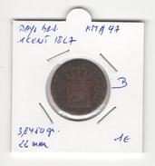Pays Bas. 1 Cent 1827. KM # 47. B - [ 3] 1815-… : Royaume Des Pays-Bas