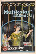 "07153 ""MULTICOLOR V/H R. BORST & CO - DEVENTER-HOLLAND-CAMPIONARI PER L'INDUSTRIA TESSILE - 1927"" CIRIE' - PUBBL. ORIG. - Pubblicitari"