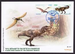 Armenien/Armenie/Armenia 2017,  Fauna Of The Ancient World, Dinosaurs, Pterosaur, Tyrannosaurus - FDC - Stamps