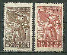 POLAND MNH ** 634-635 Journée Internationale Des Femmes - Unused Stamps