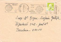 27062. Carta BARCELONA 1986. Rodillo  De 54 Feria Muestras - 1931-Hoy: 2ª República - ... Juan Carlos I