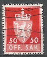 Norway 1962. Scott #O85 (U) Norway Coat Of Arms - Service