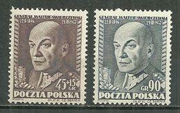 POLAND MNH ** 636-637 Anniversaire De La Mort Du Général SWIERCZEWSKI Armée Militaire Guerre - Unused Stamps