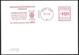 Italia/Italy/Italie: EMA, Meter, Specimen, Stemma Di Comune, Common Coat Of Arms, Armoiries De Commune - Buste