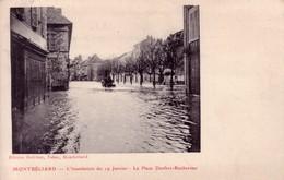 CPA  De MONTBELIARD (Doubs) - L'inondation Du 19 Janvier 1910 - La Place Denfert-Rochereau. Edition Helbling. TB état. - Montbéliard