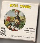 Film 8mm Sonore PAPEETE TAHITI OTEA TAHURE   (années 70  ETAT TTB 60 GR  ) - 35mm -16mm - 9,5+8+S8mm Film Rolls