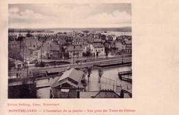 CPA  De MONTBELIARD (Doubs) - L'inondation Du 19 Janvier 1910 - Vue Prise Des Tours Du Château. Edit. Helbling TB état. - Montbéliard