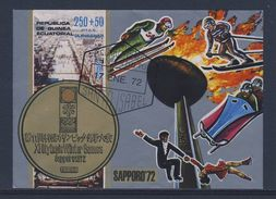 Equatorial Guinea / Guinee Equatorial 1972 B 4 (=Mi A34) - City View Sapporo / Stadtansicht - XI Olympic Winter Games - Winter 1972: Sapporo