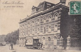 MONT ST MARTIN -  MEURTHE & MOSELLE -  (54) - PEU COURANTE CPA ANIMÉE DE 1909. - Mont Saint Martin