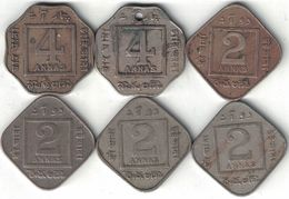 British India Collection Of 6 Coins 1918-1936 All Listed & Different - India