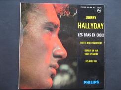 Johnny Halliday - Les Bras En Croix / Quitte-moi Doucement / Quand Un Air Vous Possède / Dis Moi Oui - 45 Toeren - Maxi-Single