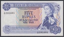 Mauritius 5 Rupees (ND 1967) UNC - Mauritius