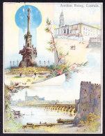 BELLE CHROMO PAPIER FIN AMIDON REMY LOUVAIN MONUMENTS - Chocolat