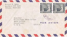 27068. Carta Aerea CARACAS (Venezuela) 1957 To USA - Venezuela