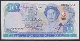 New Zealand 10 Dollars 1990 UNC - New Zealand
